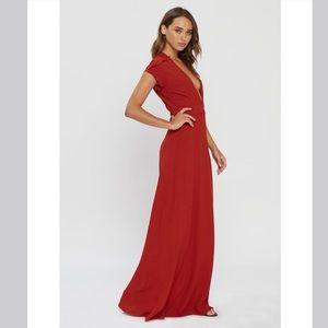 NWT Flynn Skye Valentina Plunging Maxi Dress